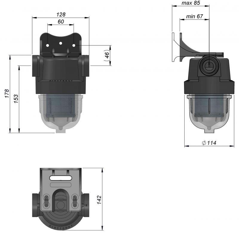 SL160 Cintropur филтър размери