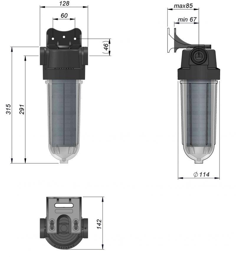 SL240 Cintropur филтър размери