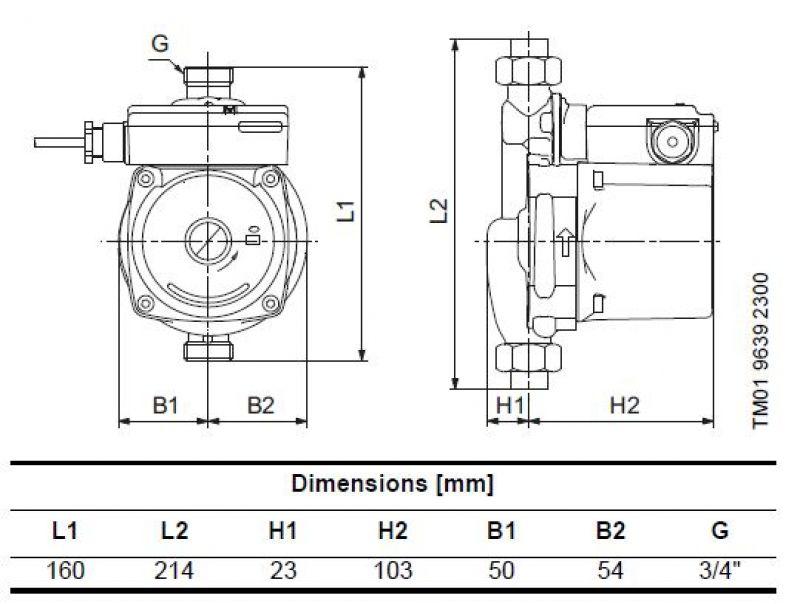 UPA15-90 размери